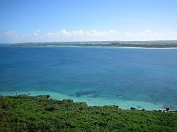 来間島から見た宮古島